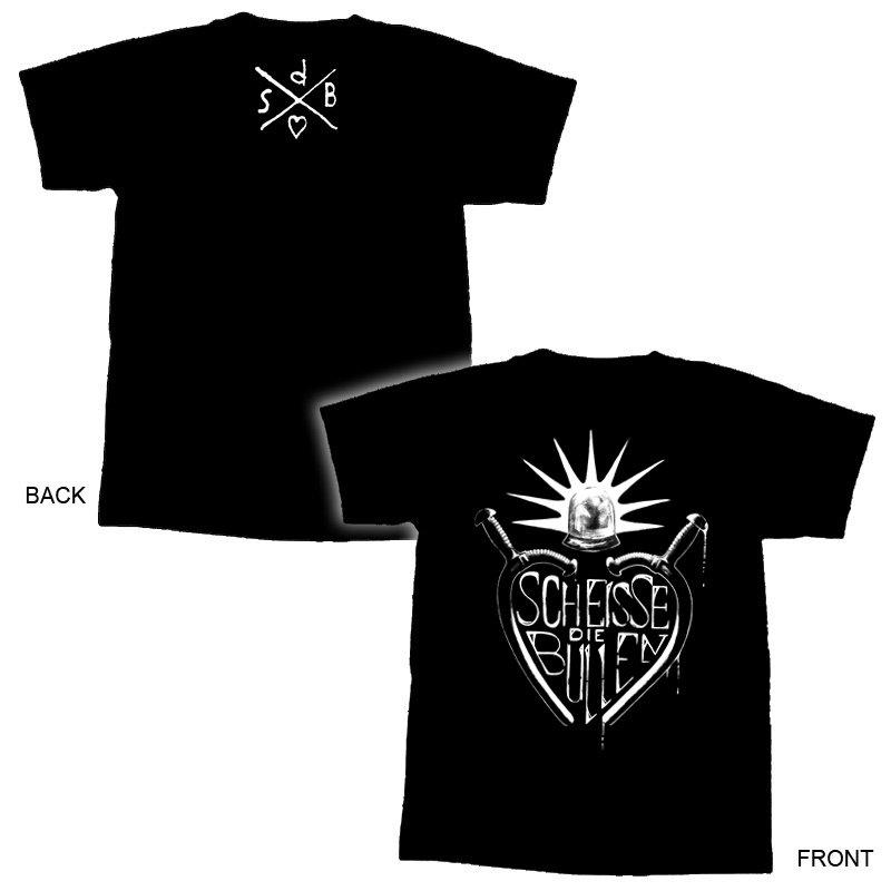 ScheisseDieBullen-Gummiknüppel T-Shirt XXL