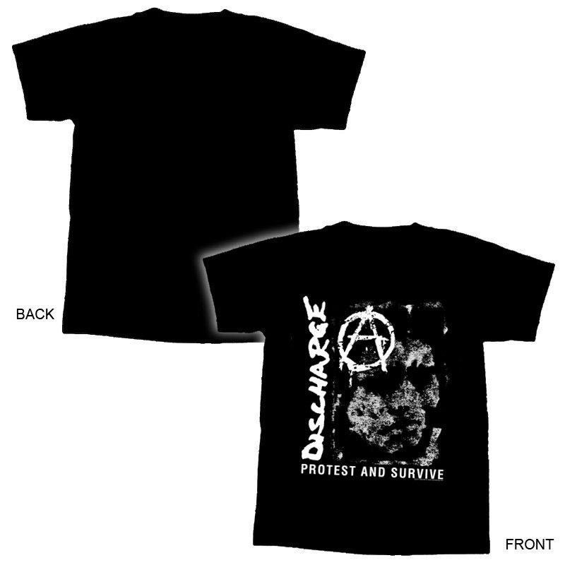 DISCHARGE - Prostest & Survive T-Shirt-S