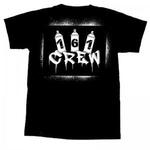 161 CREW- Stencil T-Shirt - M ( white print )
