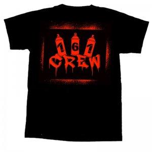 161 CREW- Stencil T-Shirt - M ( red print )