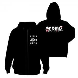 ST.PAULI- Logo ANTIFA -+ Gegen Nazis Zipper - S