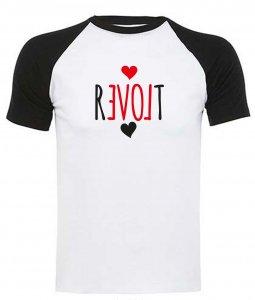 REVOLT - Baseballshirt (Weiss/Schwarz) Groß T-Shirt